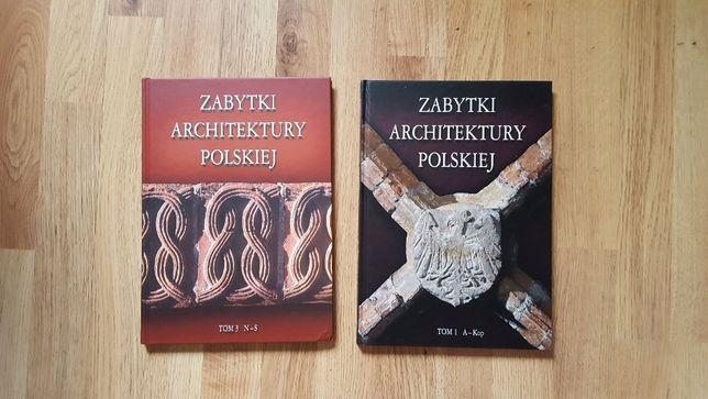 Zabytki ARCHITEKTURY polskiej - 2 tomy