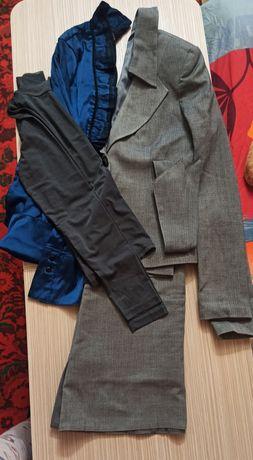 Костюм офисный рубашка и водолазка сетка. Обмен на фрукты