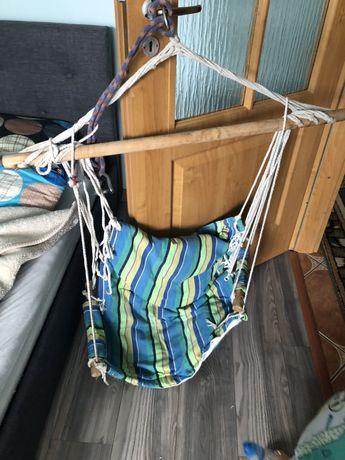 Krzesełko brazylijskie huśtawka wiszaca hamak stan bdb