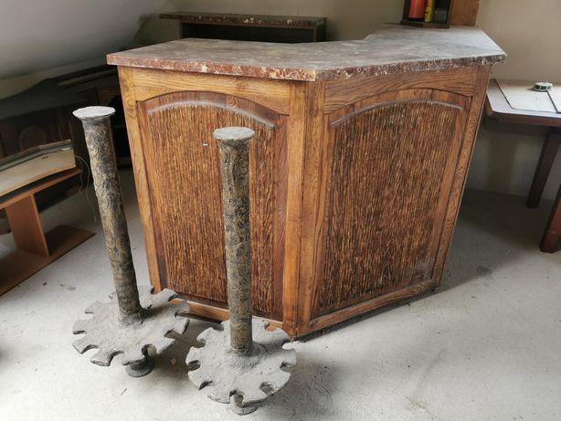 Barek drewniany na alkohol stojak na wino