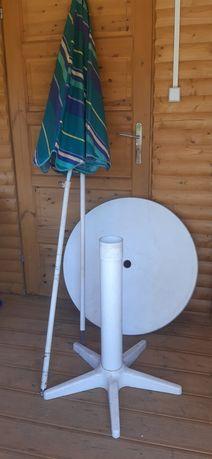 Parasol ogrodowy ze stolikiem