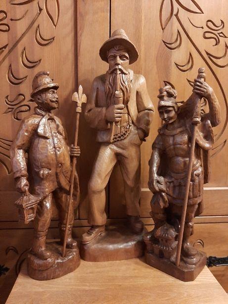 Rzeźba z drewna, Halabardnik, Św. Florian, Starzec z fajką