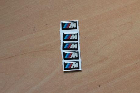 5 Autocolantes BMW M - Jantes, Guiador, etc