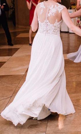 Piękna suknia ślubna, własny projekt.