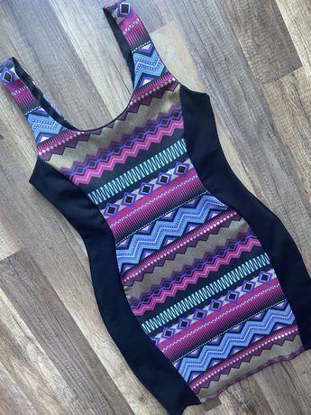 Kolorowa sukienka w rozm. 42