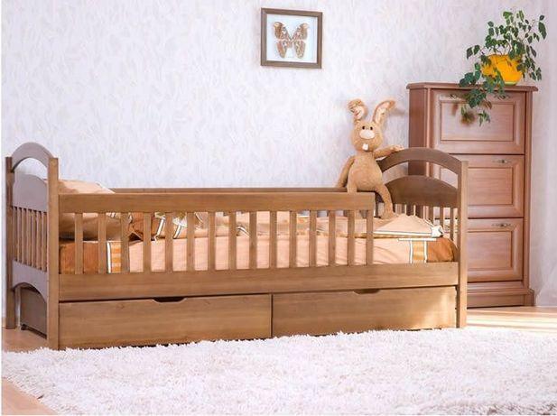 Детская кровать,Арина Люкс из дерева ольхи,все перегородки - съемные!