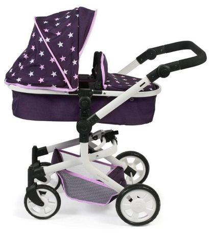 Bayer Chic Składany wózek dla lalek Mika, różowo-bordowy