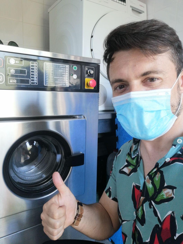 Lavamac máquina de lavar roupa industrial Self-service