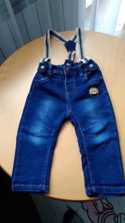 Spodnie chłopięce r.80