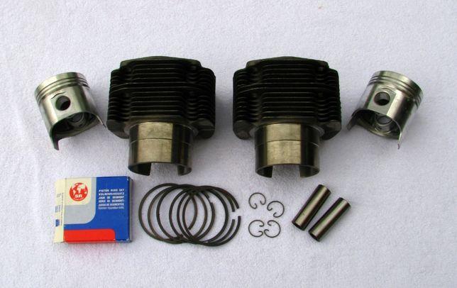 Zestaw naprawczy silnika 600ccm tłoki cylindry pierścienie Fiat 126p