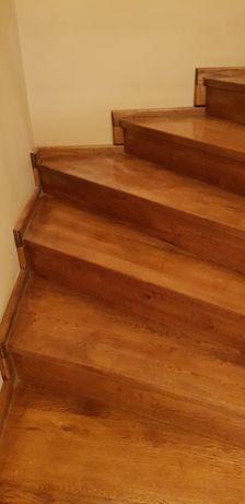 Schody DĘBOWE zabiegowe, dywanowe, stopnice podstopnice