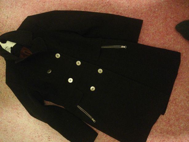 Płaszcz dwurzędowy  czarny rozmiar m