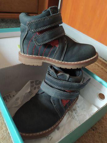 Осенние ботинки для девочки 25р, 16см стелька, кожа