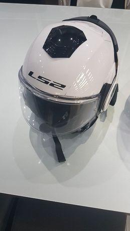 kask motocyklowy LS2 szczękowy otwierany intercomy midland 2 szt
