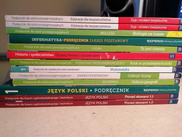 Książki technikum, szkoła branżowa, liceum