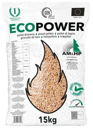 Pellet Ecopower worki 15 kg pelet drzewny