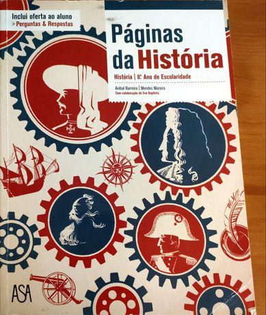 Páginas da História 8° ano - Manual