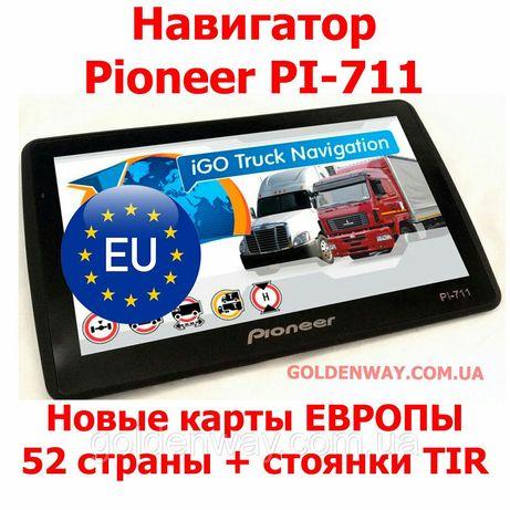 Навигатор Pioneer 3.5, 5, 7, windows, android, новые карты европы