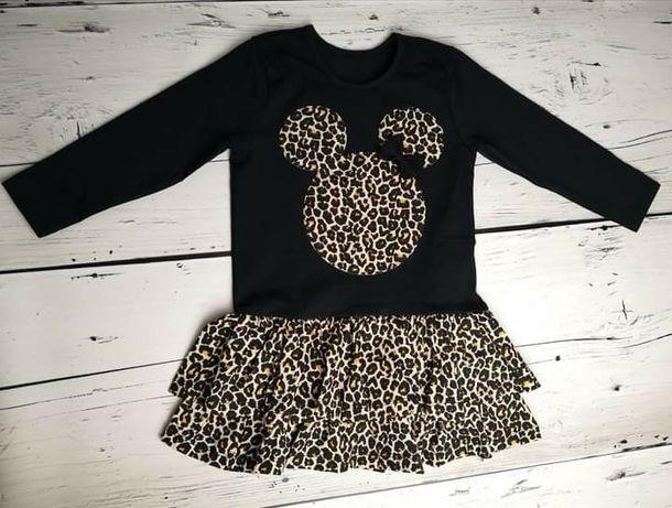 Sukienka Miki czarna panterka