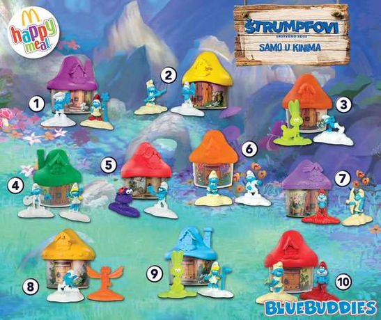 Smurf 2017 McDonald's happy meal.