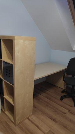 Biurko Ikea + krzesło regał
