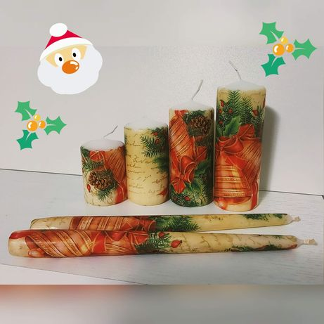Świece świąteczne handmade