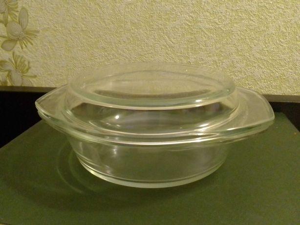 Кастрюля стекло жароустойчивое для запекания