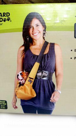 Уличная,дорожная мягкая сумка переноска для животных до 9кг  синяя