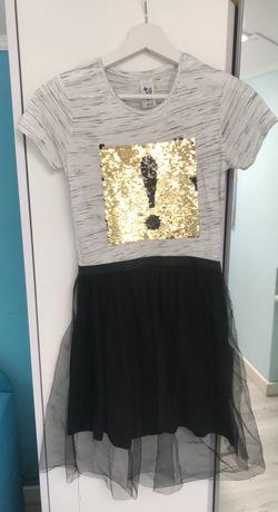 Платье пайетки  фатин C&A р 146