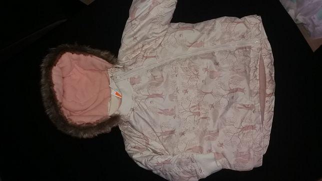 H&M kurtka zimowa dziewczęca 92 nowa