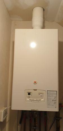 Piec kocioł gazowy SAUNIER DUVAL kondensacyjny regulator radiowy pogod