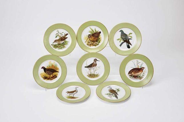 8 pratos caça vista alegre novos