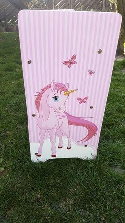 Półka na książki buty stojak jednorożec kucyk szafka regał dzieci róż