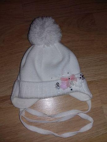 Зимова шапочка,шапка для дівчинки.Нарядная,зимняя шапка для девочки