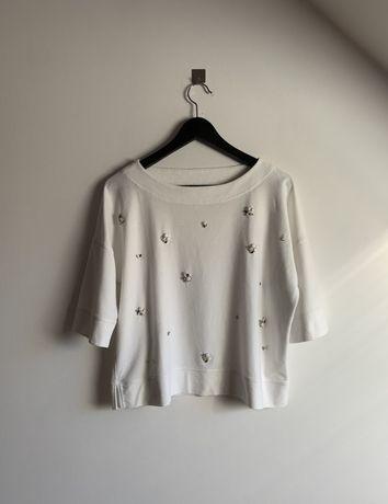 Bluza sweter Massimo Dutti S cekiny kamienie ozdoby
