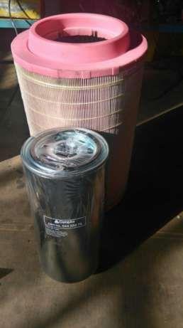 komplet Filtrów do sprężarki srubowej CompAir olej niebieski 5l