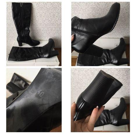 Чоботи осінні шкіряні/сапоги кожаные/ботинки/черевички