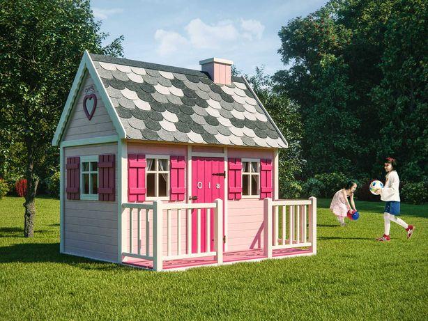 Domek ogrodowy, drewniany dla dziecka Bajka, plac zabaw od Dżepetto!