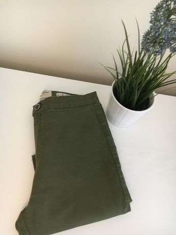 Spodnie Jegginsy khaki,rurki,wysoki stan rozm.38 M/Parisian Collection