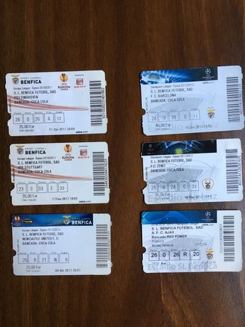 Bilhetes Benfica Competições Europeias