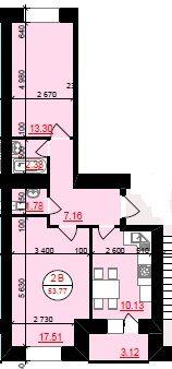 Продам, 2-кімнатну квартиру в центрі,поруч гот.Надії