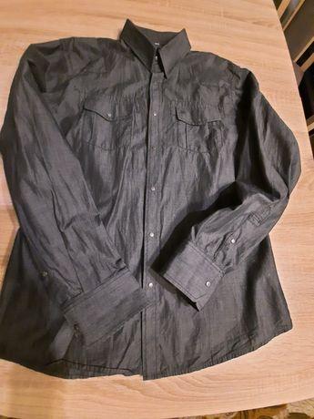 Koszula jeans czarna męska firmy Smog New Yorker rozm. L