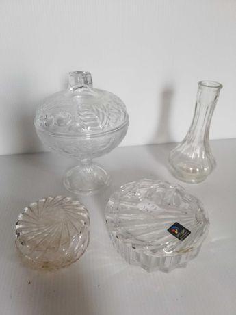 Loiça antiga de Cristal - Terrina, Cinzeiro e jarro