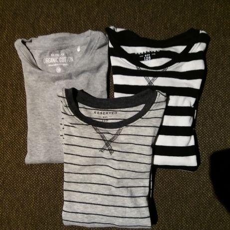 Podkoszulka/bluzka/koszulka Reserved rozm.122 (cena za 3 szt)