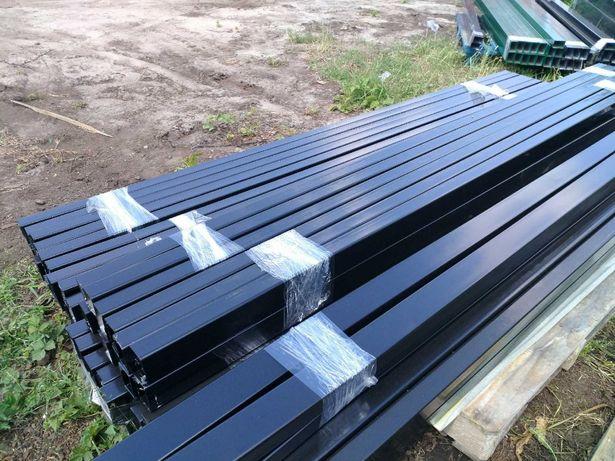 słupek słupki do paneli ogrodzeniowych ogrodzeniowych ocynk + kolor