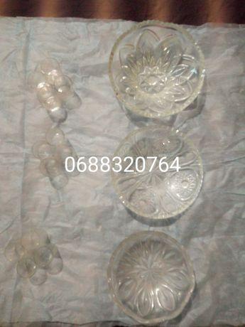 Хрустальные вазы-салатницы хрустальные стопочки