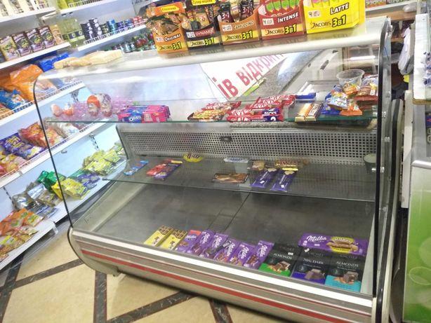 Кондитерская холодильная витрина Cold 1,6 м с мраморной столешницей
