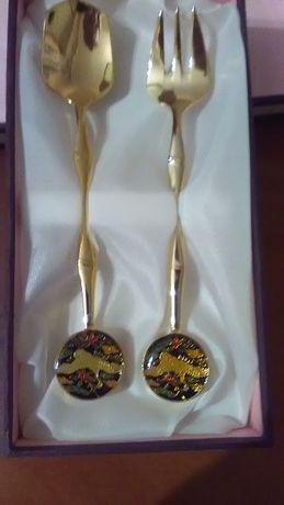 Сувенирный набор из Кореи ложка и вилка