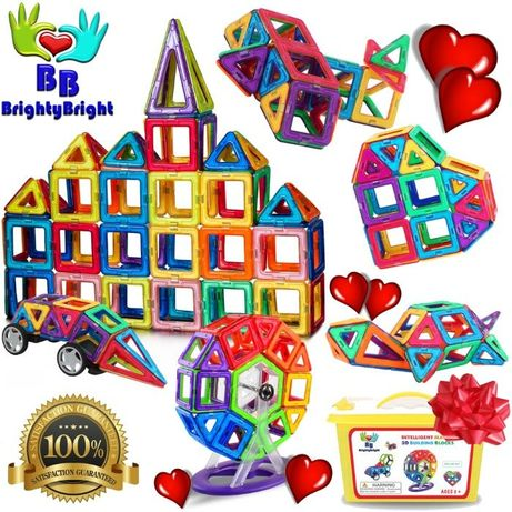 Коструктор Развивающий Магнитный Подарки Детям 161 дет Игрушки Магниты