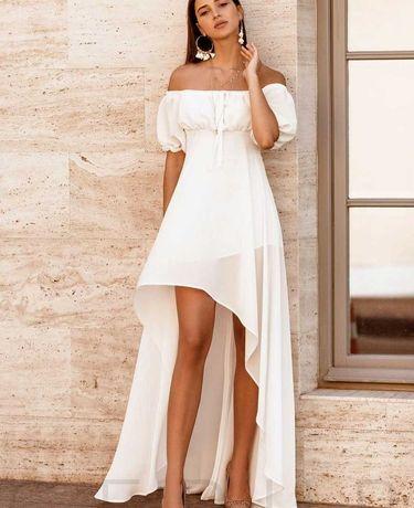 Платье шифоновое белое